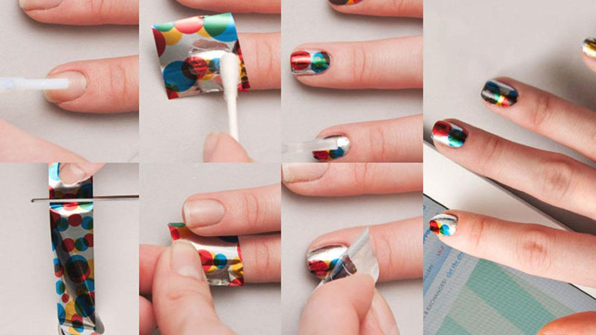 Как пользоваться переводной фольгой для ногтей