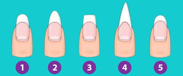 Основные формы натуральных ногтей