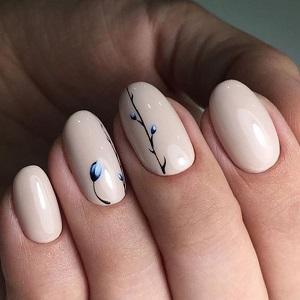 Ногти с минималистичным дизайном фото
