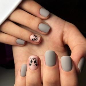 Оригами панда на ногтях фото