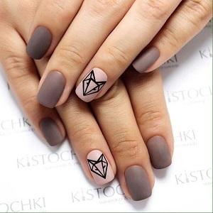 Животные в геометрическом стиле на ногтях фото
