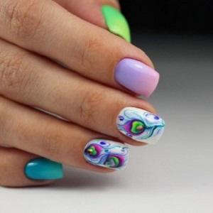 Дизайн ногтей по мокрому гель-лаку фото