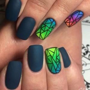 Геометрия на коротких ногтях фото