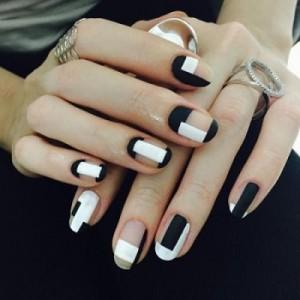 Маникюр геометрия на коротких ногтях