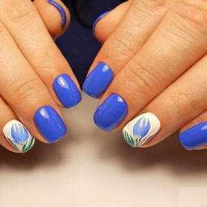 Тюльпаны на ногтях фото