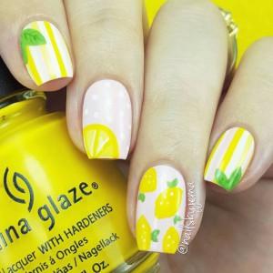 fruity-nails-yellow-lwmon-and-stripes-perezhilton