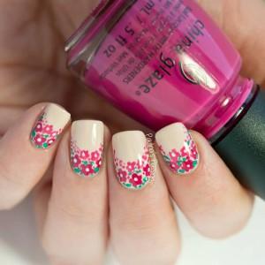 Cute-Flower-Nail-Art
